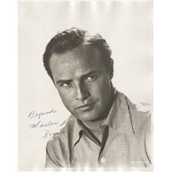 Marlon Brando signed photograph.