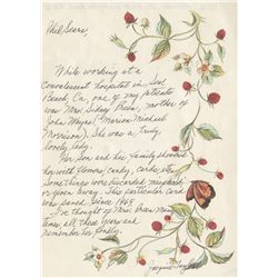"John Wayne handwritten greeting card to his mother signed ""Duke alias Marion""."