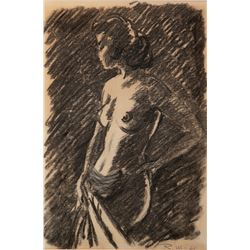 Raoul Walsh standing nude female artwork.