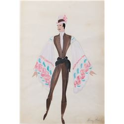 """""""Dancers"""" pair of costume sketches by Mary Grant for Up in Central Park."""