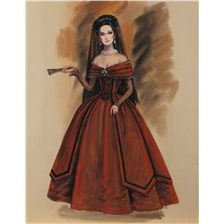 Norma Koch costume sketch for an unidentified production.