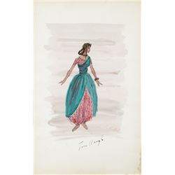 Harem Girl costume by Tom Keogh for Kismet.
