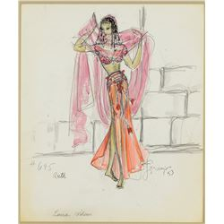 Charles Le Maire costume sketch attributed to The Story of Ruth.