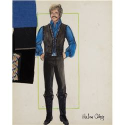 """Doug McClure """"Trampas"""" costume sketches by Helen Colvig for The Virginian."""