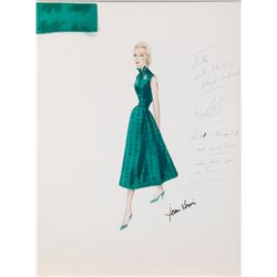 """Lana Turner """"Holly Parker"""" Jean-Louis costume sketch for Madame X."""
