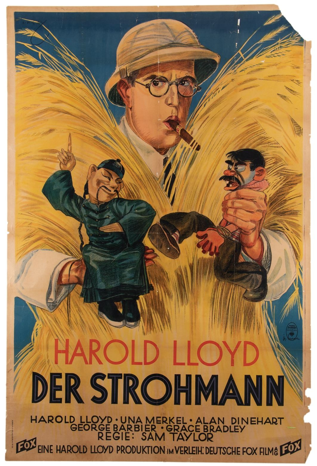 best service bdd20 7b882 Harold Lloyd personal German oversize poster for The Cat's-Paw.