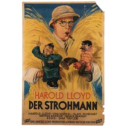 Harold Lloyd personal German oversize poster for The Cat's-Paw.
