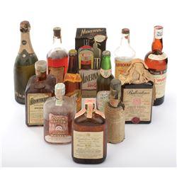 Howard Hughes (90+) vintage liquor bottles.