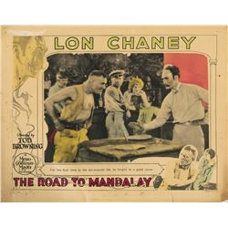 Lon Chaney lobby card for The Road to Mandalay.