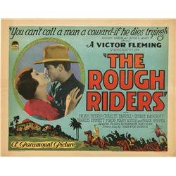 Director Victor Fleming complete (8) lobby card set for The Rough Riders.