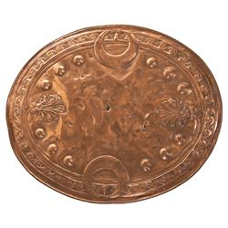 "Henry Wilcoxon ""Marc Antony"" shield used in Cecil B. De Mille's Cleopatra."