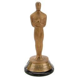 "Mini-""Oscar"" statuette for Columbia Pictures' 15th anniversary of It Happened One Night."