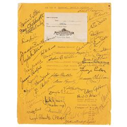 David O. Selznick personal David Copperfield script signed by the cast.