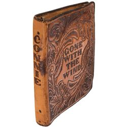 Gone With the Wind set shooting script with alternate ending in leather cover from Connie Earl.