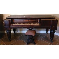 """Scherr square piano from Laura Hope Crews """"Aunt 'Pittypat' Hamilton's"""" home in Gone With the Wind."""