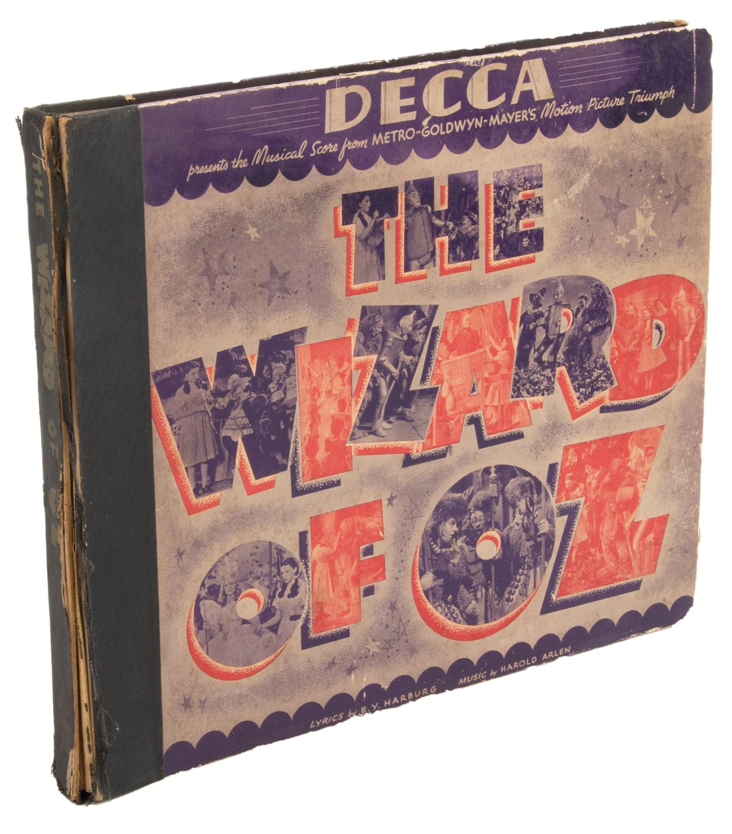 The Wizard of Oz Decca 4-78-RPM record set inscribed by composer Harold  Arlen to his brother