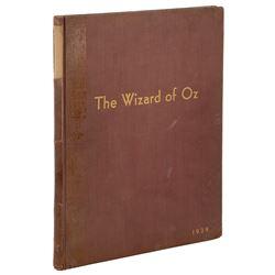 The Wizard of Oz bound presentation sheet music inscribed by composer Harold Arlen in Hebrew.