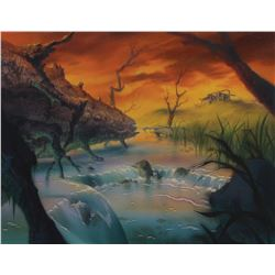 Secret of NIMH (2) production backgrounds by Ron Dias.