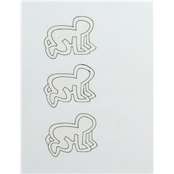 """Keith Haring Foundation (2) production drawings of the """"Radiant Baby"""" and """"Dog"""" for Sesame Street."""