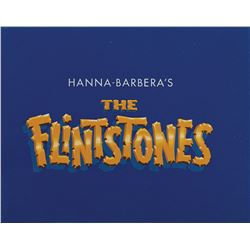 The Flintstones main title production cels on a matching production background.