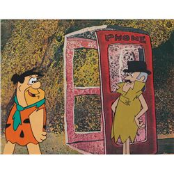 "The Man Called Flintstone (2) production cels and matching production backgrounds featuring ""Fred""."