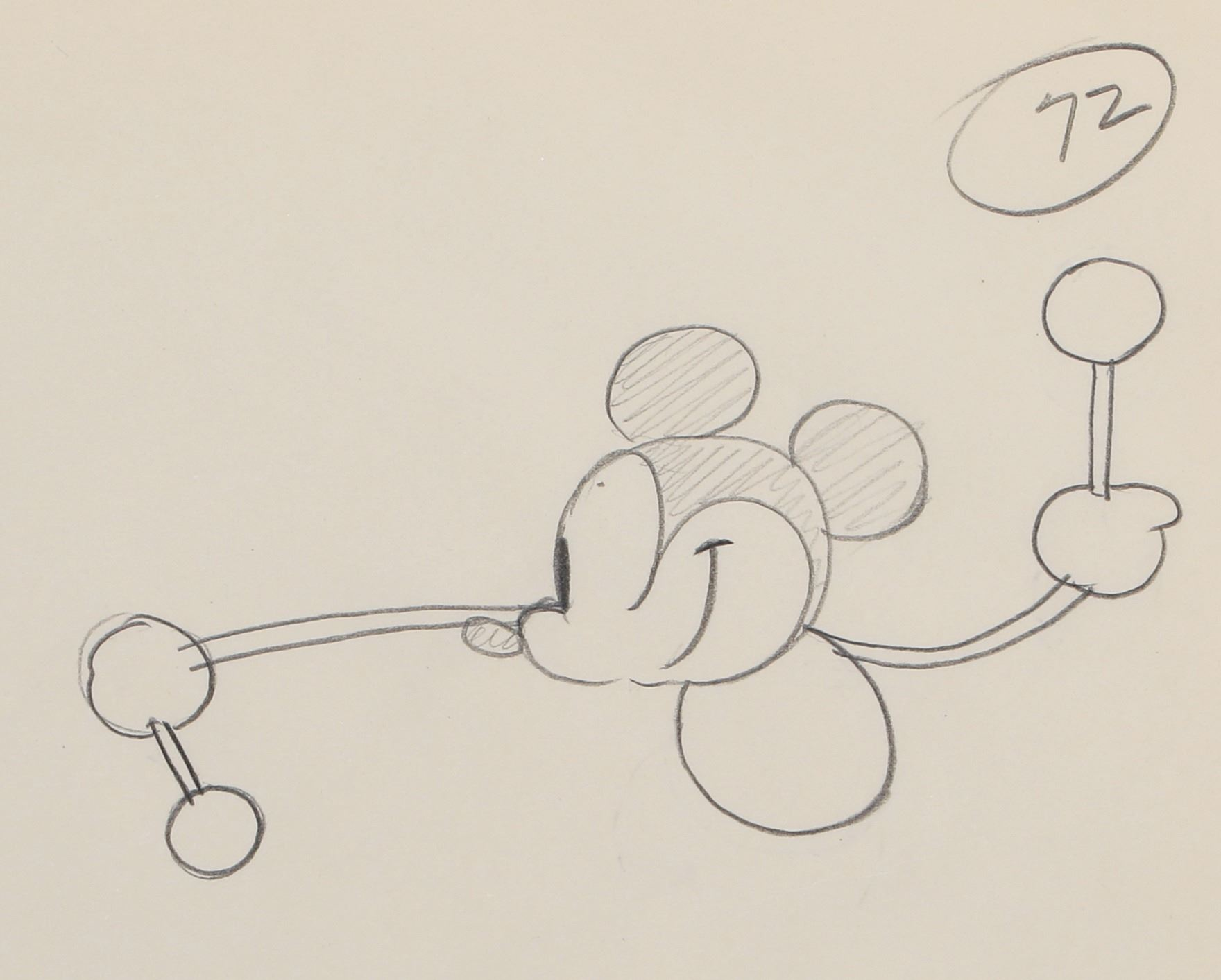 Image 1 mickey mouse production drawing from steam boat willie