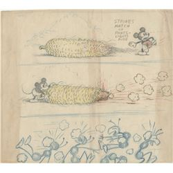"Les Clark concept drawing from Mickey's Garden featuring ""Mickey Mouse""."