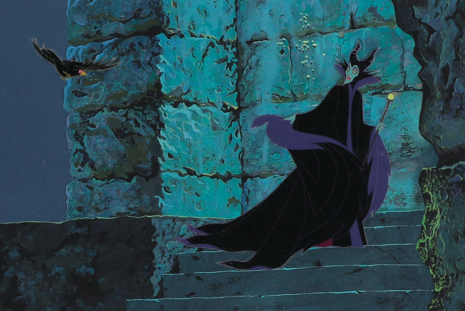 Maleficent And Diablo Production Cels On A Pan Production
