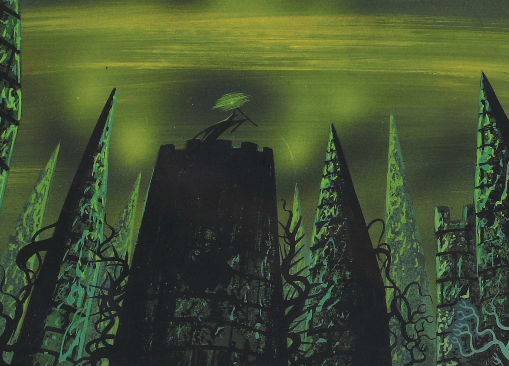 Eyvind Earle Pan Concept Painting Of Maleficent