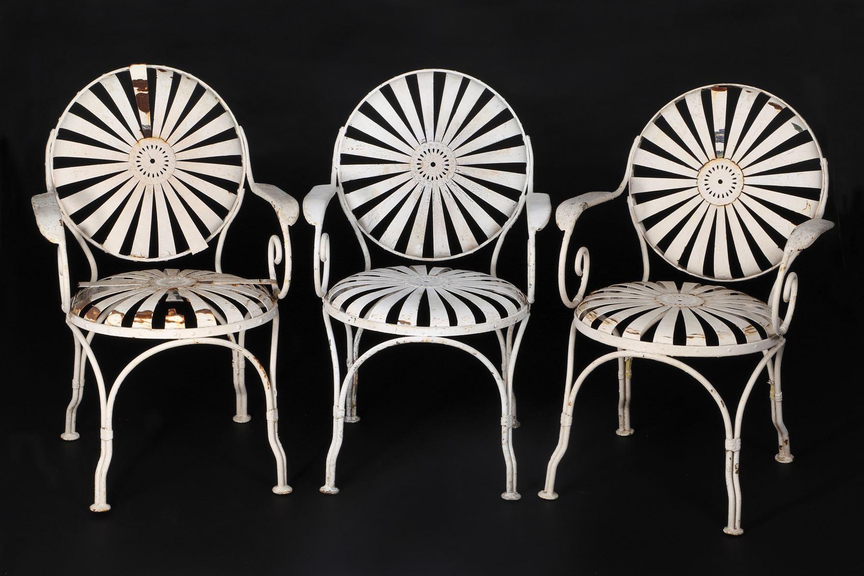 Image 1 : Casablanca (3) Metal Garden Chairs From Outside Ricku0027s Café  Américain.