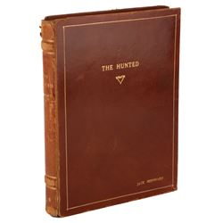Jack Bernhard's personal The Hunted book bound presentation script by Steven Fisher.