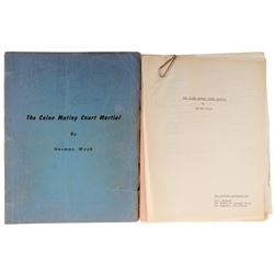 Charles Laughton script for the original Broadway production of The Caine Mutiny Court Martial.