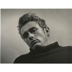 James Dean oversized portrait photo by Roy Schatt from the Torn Sweater series for LIFE magazine.