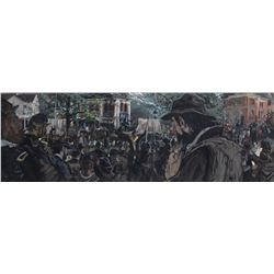 Harland Frazer Civil War panoramic painting from the collection of David A. Constable.
