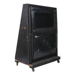 Vintage NBC Radio Foley studio car door.