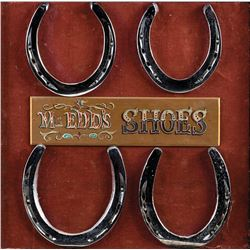 Set of Mr. Ed's horseshoes accompanied with a cast signed photograph and other related materials.