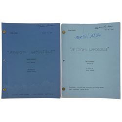 Martin Landau (2) personal scripts with 1-signed from Mission: Impossible.