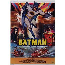 Batman Belgian window card poster.