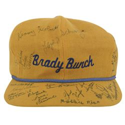"""Brady Bunch hat signed by Robert Reed, Florence Henderson, all 6-""""Brady kid"""" actors, and others."""
