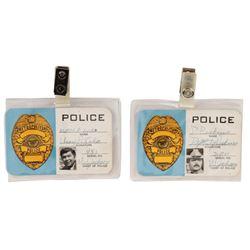 "The Misadventures of Sheriff Lobo ""Sheriff Lobo"" (2) police staff credentials."