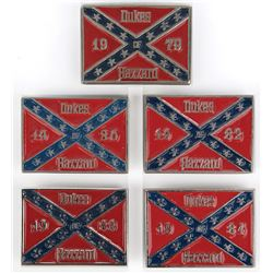 The Dukes ofHazzardcollection of (5) crew belt buckles.