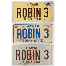 Magnum P.I. (3) prop license plates.