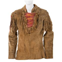 "James Stewart ""Linus Rawlings"" leather trapper tunic from How the West Was Won."
