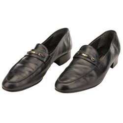 "Sean Connery ""James Bond 007"" leather dress shoes from Never Say Never Again."