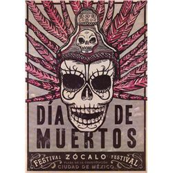 """Dia de Muertos"" poster used in the spectacular Mexico City opening sequence of Spectre."