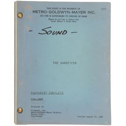 The Sandpiper Final Draft script written by Dalton Trumbo and directed by Vincente Minnelli.