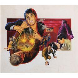 The Power original advertising art painting.