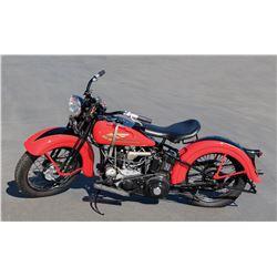 Steve McQueen's 1934 Harley-Davidson R45 motorcycle sold at McQueen estate sale.