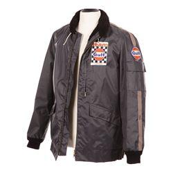 "Steve McQueen hero screen-worn ""Michael Delaney"" Team Gulf rain jacket from Le Mans."