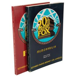 Sotheby-Parke-Bernet (2) auction catalogs for the historic 1971 20th Century-Fox studio auctions.